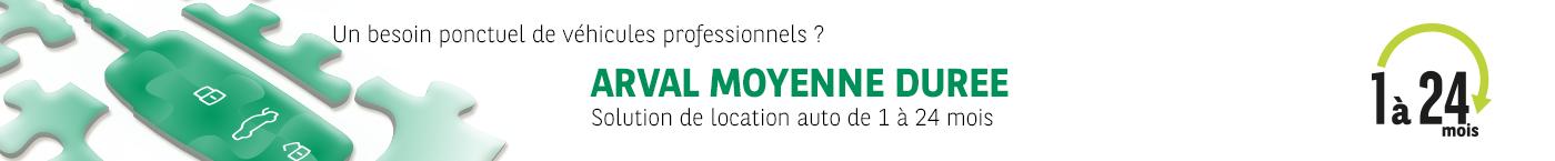 Arval Moyenne Durée, location auto de 1 à 24 mois