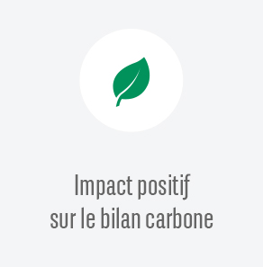 Impact positif sur le bilan carbone