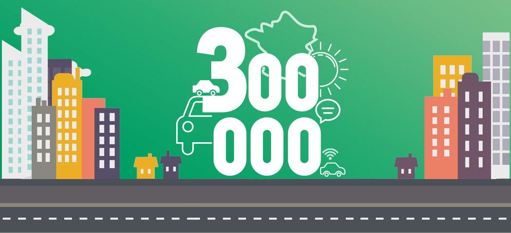 300 000 véhicules