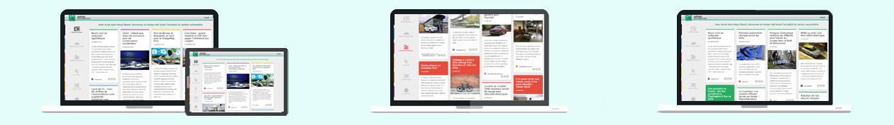 Arval Autonewsboard écrans