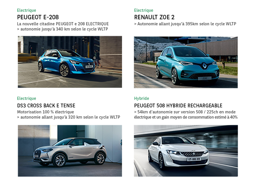 voitures électriques et hybrides