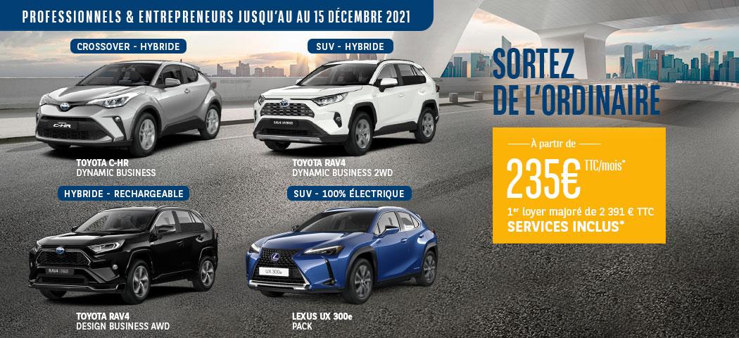Offre LLD Toyota et Lexus