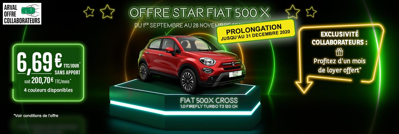 Prolongation offre de remboursement Opé Fiat 500X