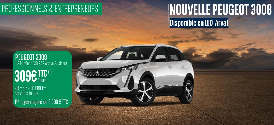 Offre LLD Peugeot 3008