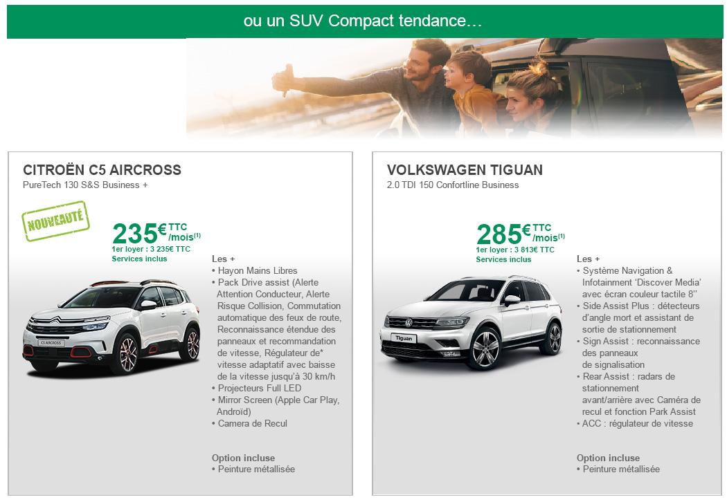 Nos offres LLD SUV compact