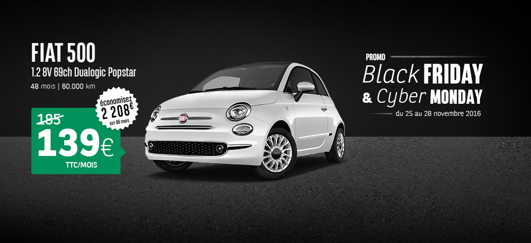 offre fiat 500 fiat 500 offre citadine fiat fiat 500 une offre de lld 149 euros par mois. Black Bedroom Furniture Sets. Home Design Ideas