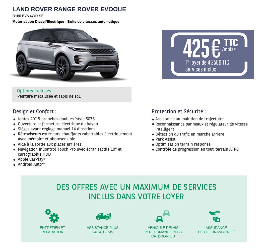 Offre LLD Land Rover Ranger Rover Evoque