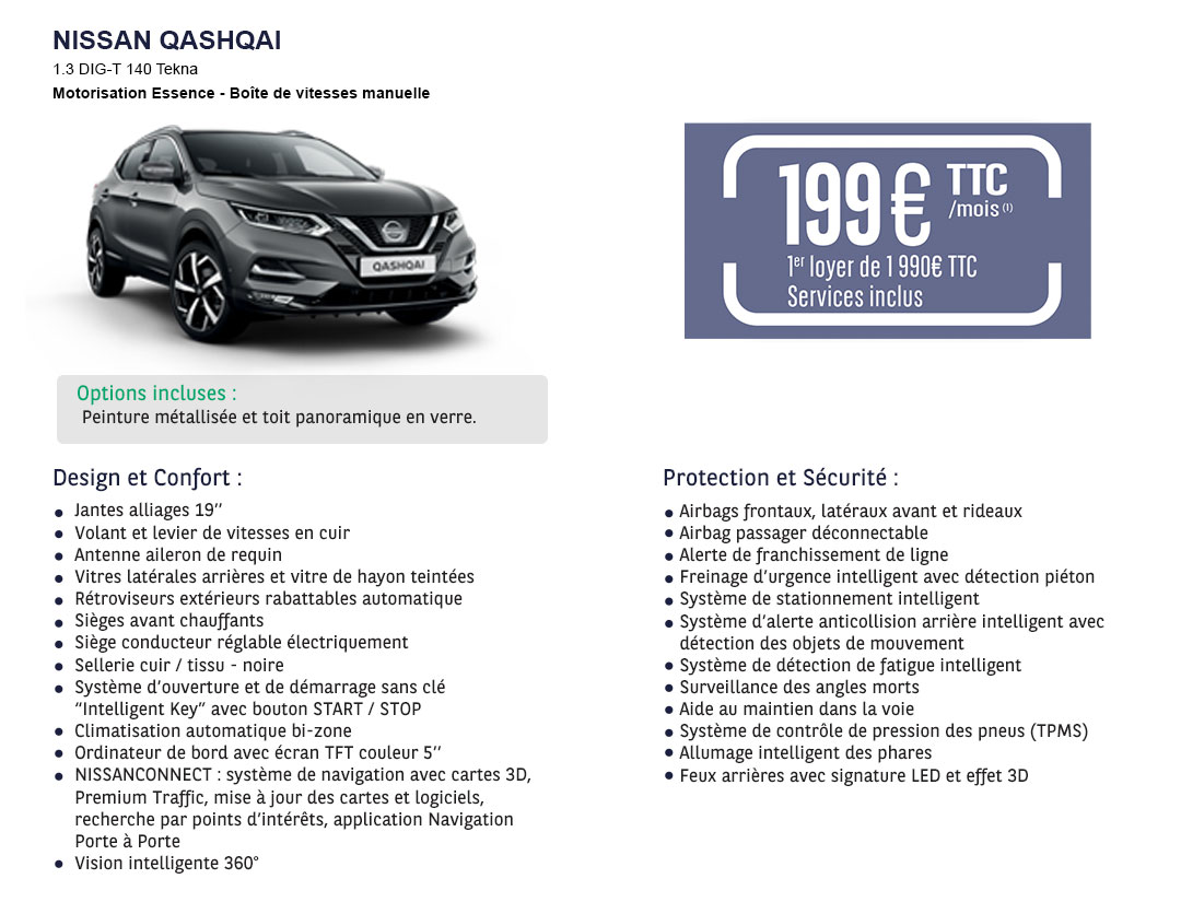 Offre LLD Nissan Qashqai