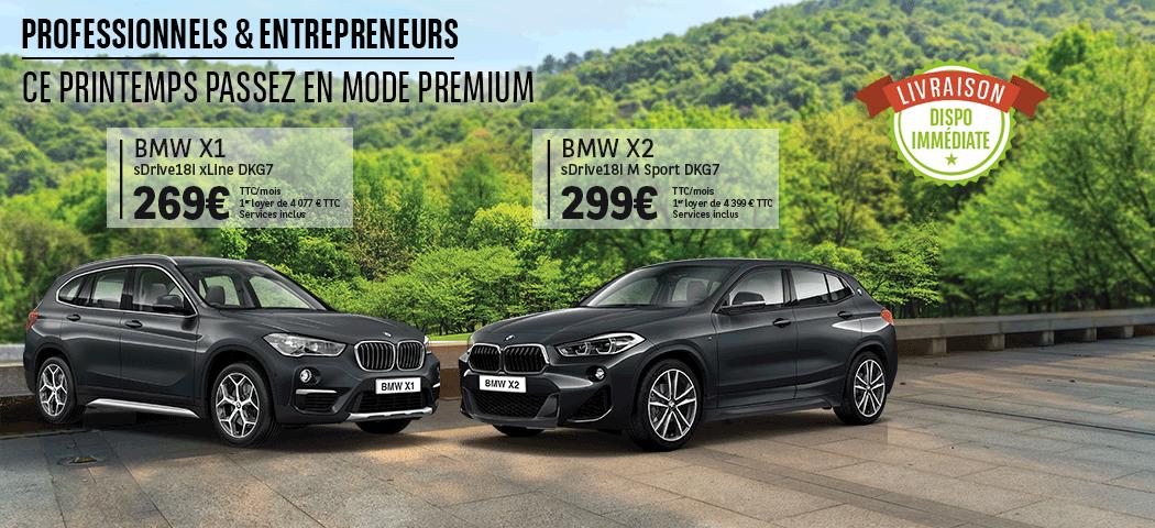 Offres LLD BMW X1 et X2