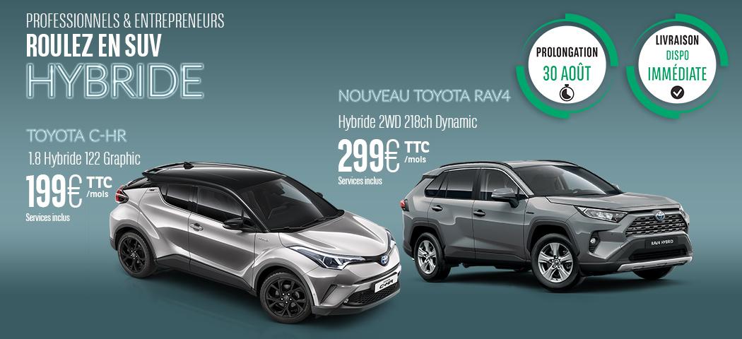 Prolongation offre Toyota RAV4 et CH-R