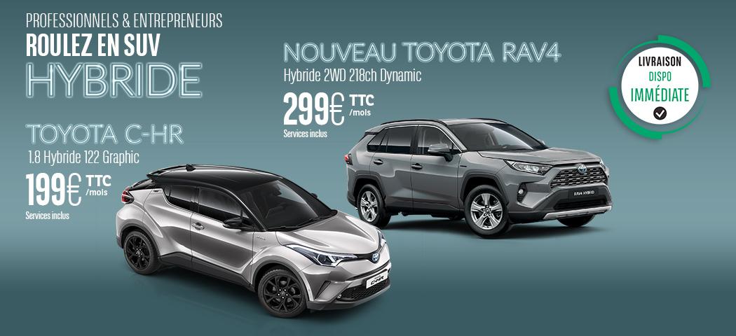 Nos offres LLD Toyota RAV4 et C-HR