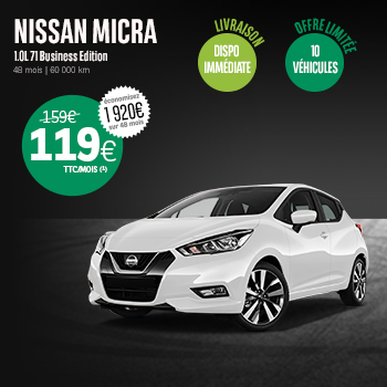 offre Black Friday & Cyber Monday Nissan Micra