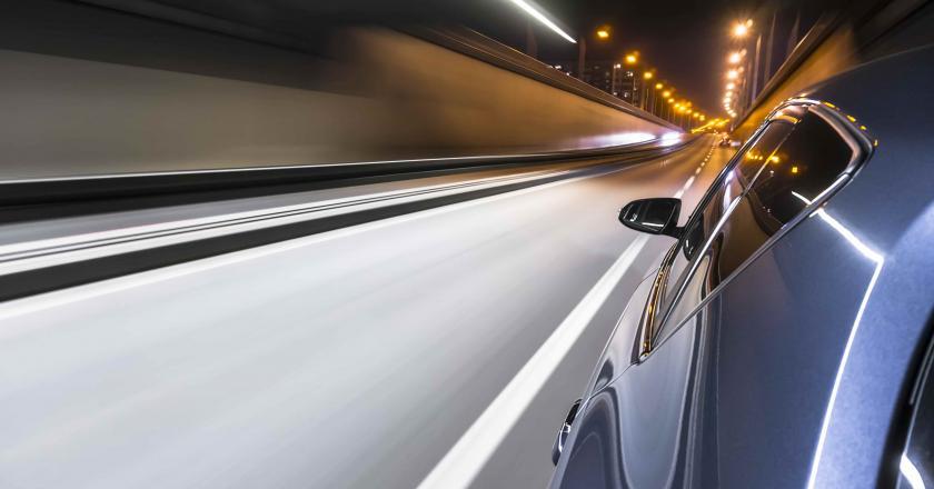 Ligne fuyante sur exterieur vehicule